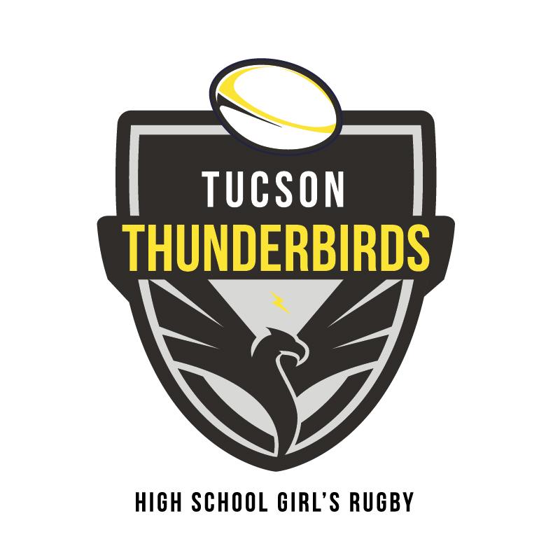 Thunderbird High School Girl's Rugby Logo Sept. 16, 2018